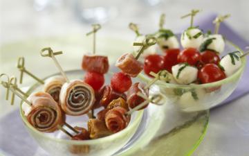 Bouchées apéritives de Jambon sec Italien à la mozzarella
