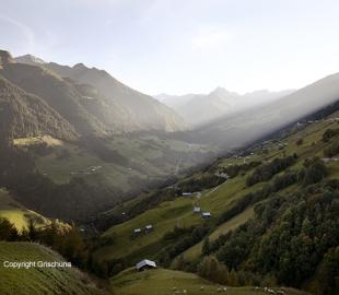 Vallée du canton des Grisons en Suisse